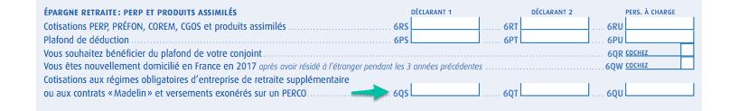 2042 CPRO pour les cotisations Madelin