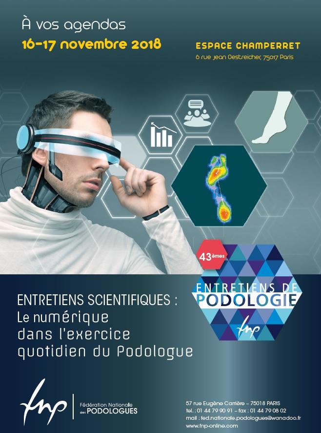 Affiche des 43èmes entretien de podologie