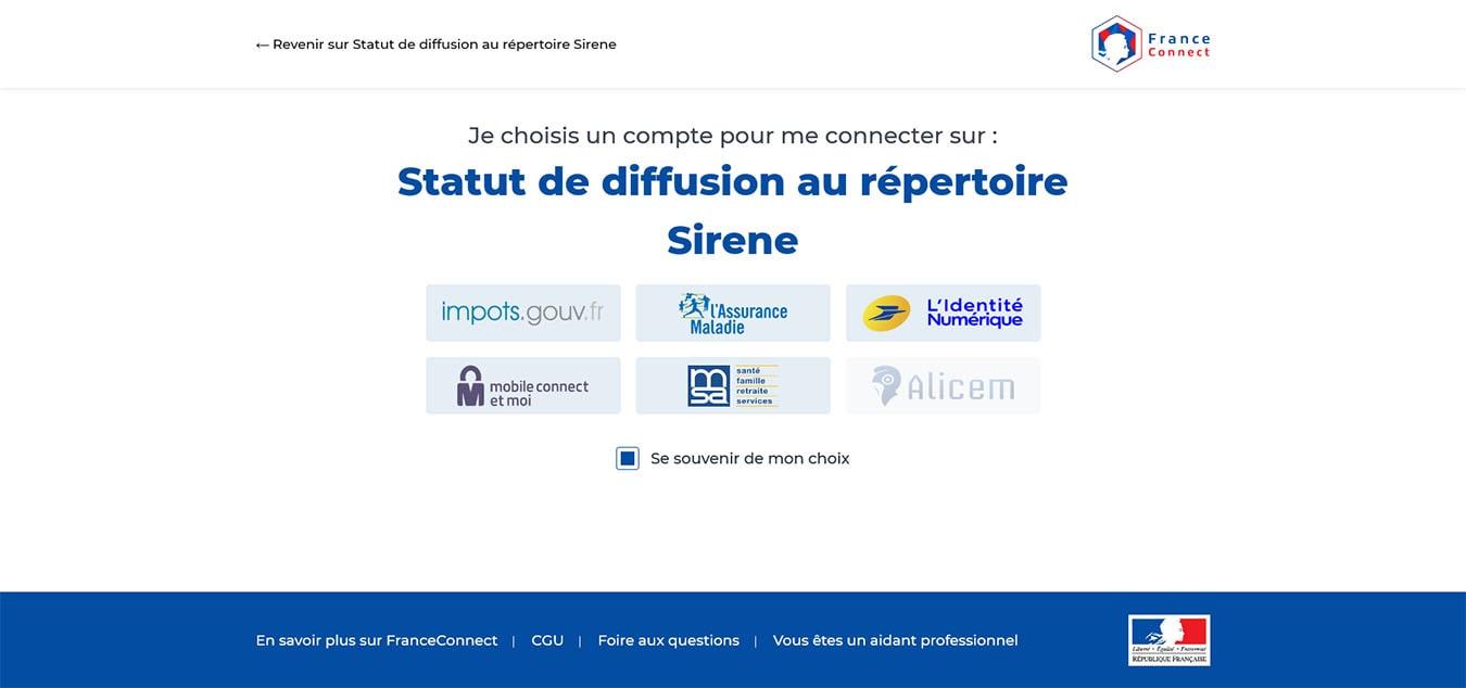 Rendre son entreprise visible : Connexion France Connect