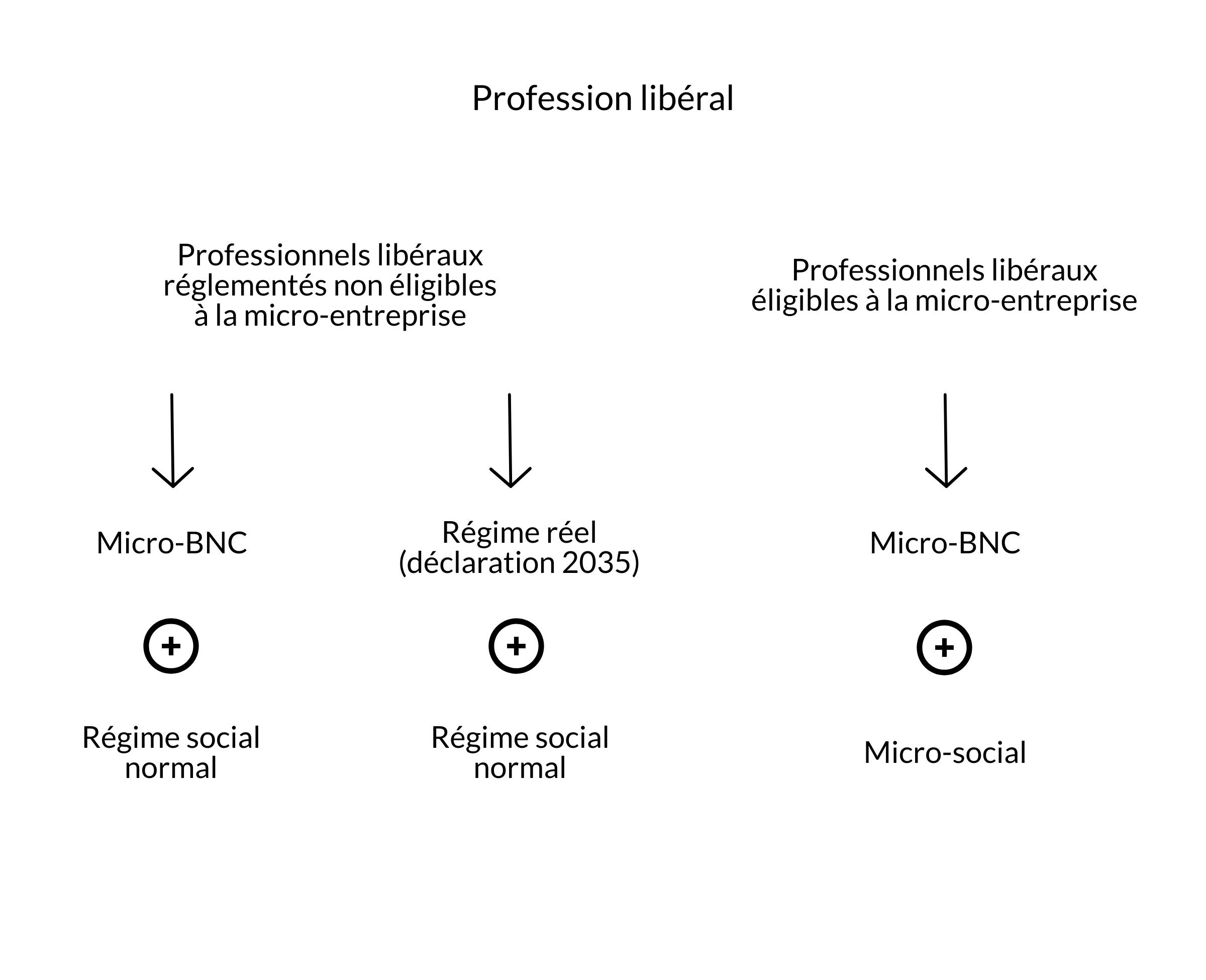 Schéma illustrant la différence entre micro-BNC et auto-entreprise