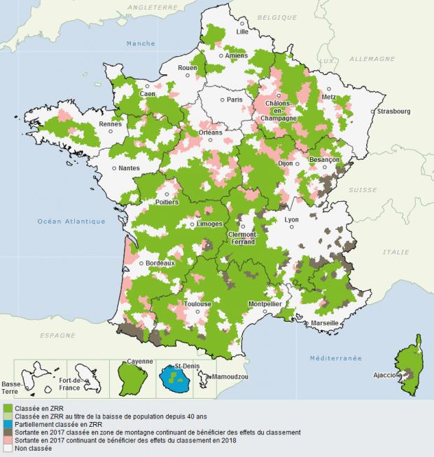 Carte des ZRR