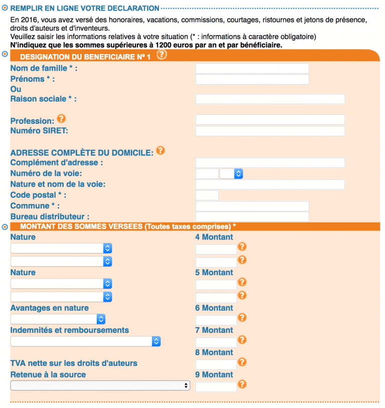 Declaration Das2 en ligne EFI - etape 4 du tutoriel
