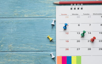 Le calendrier 2021 des indépendants en société