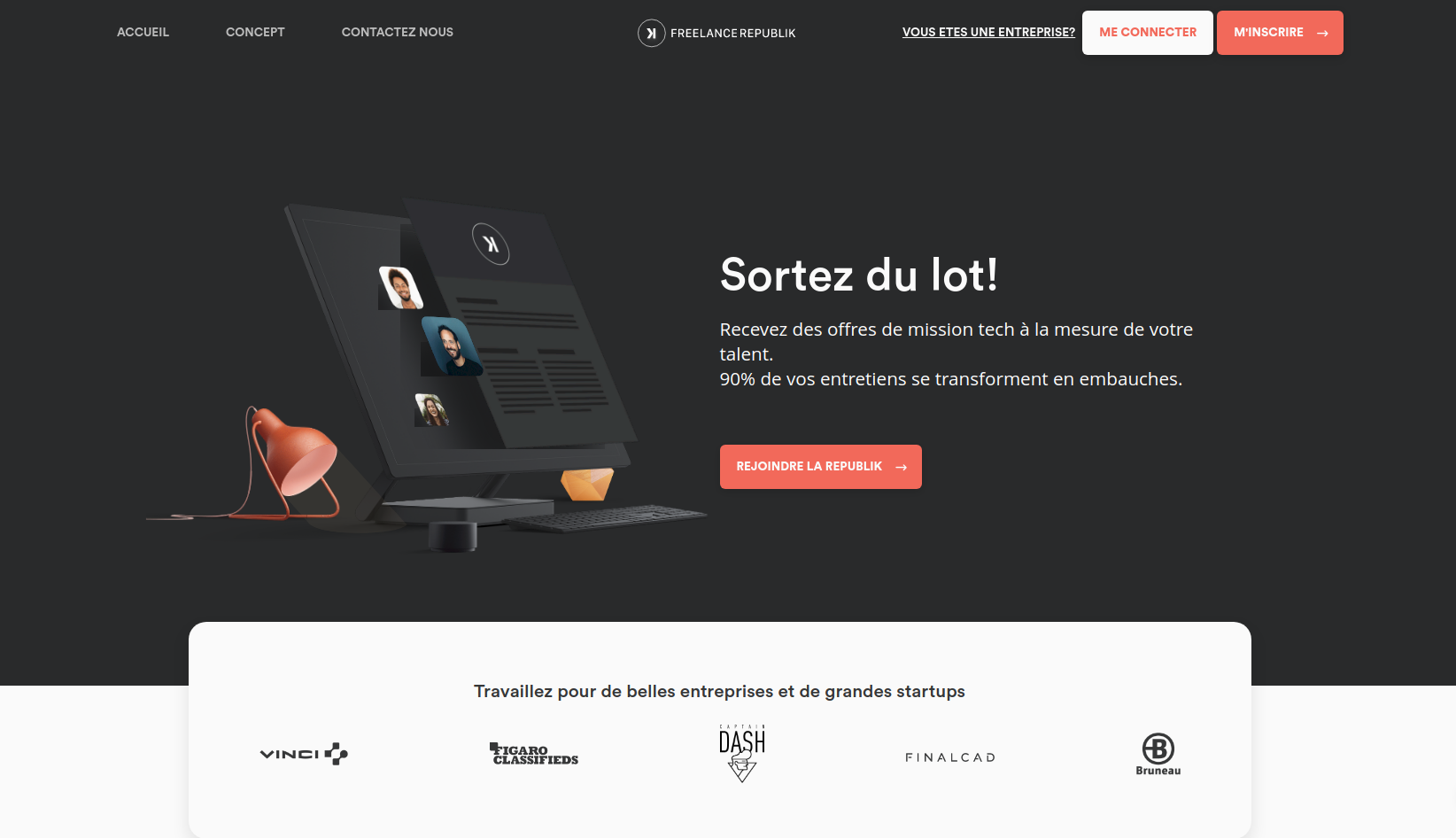 FreelanceRepublik, la plateforme des freelances tech'