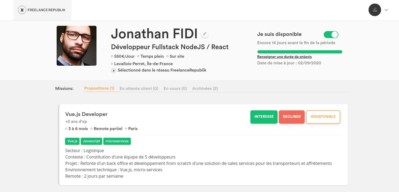 Profil tech chez FreelanceRepublik