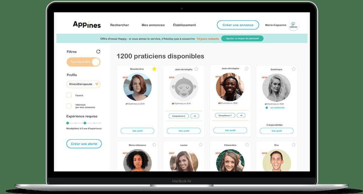 App'Ines est disponible sur mobile et desktop