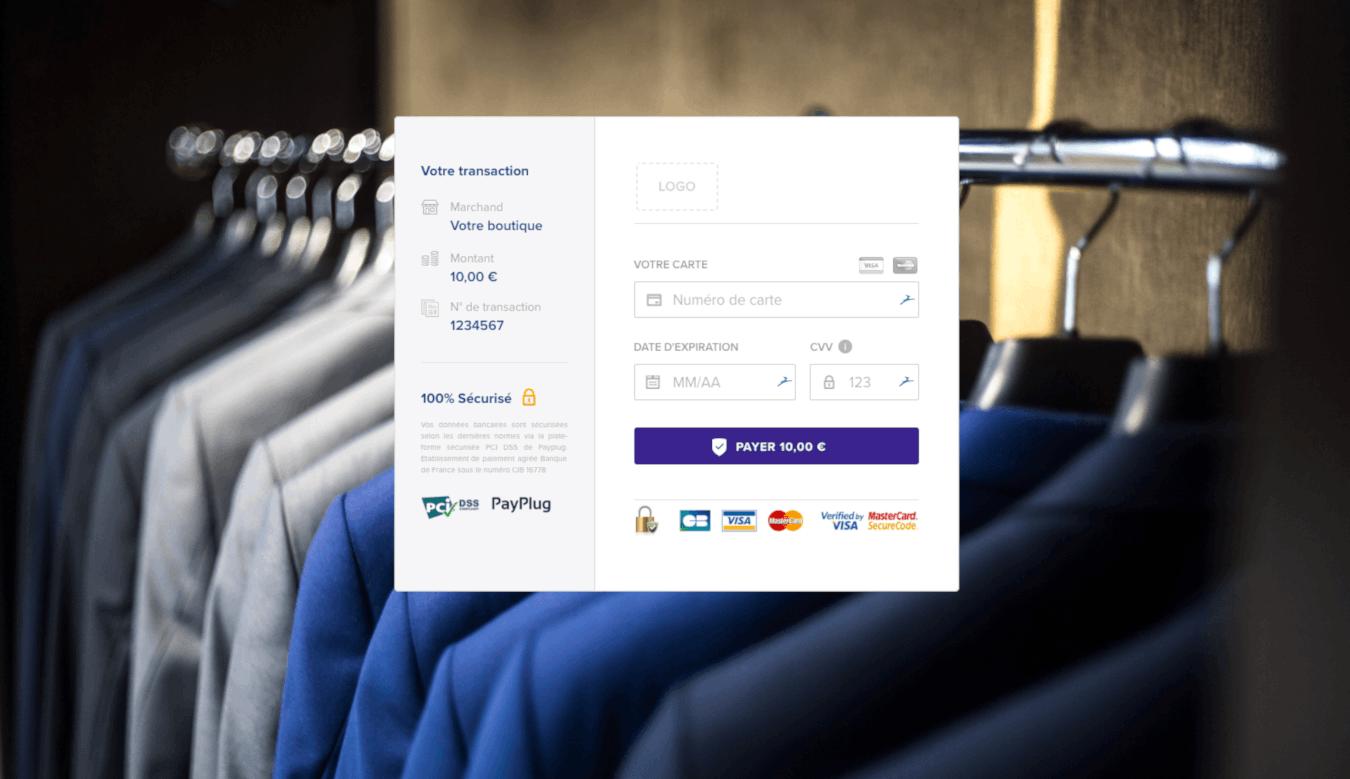 Page de paiement avec Payplug
