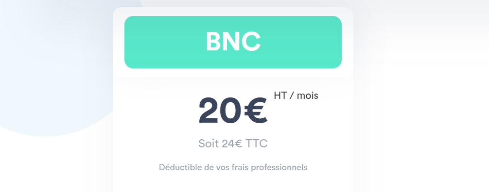 Le prix d'Indy pour les BNC est de 24€ TTC/mois