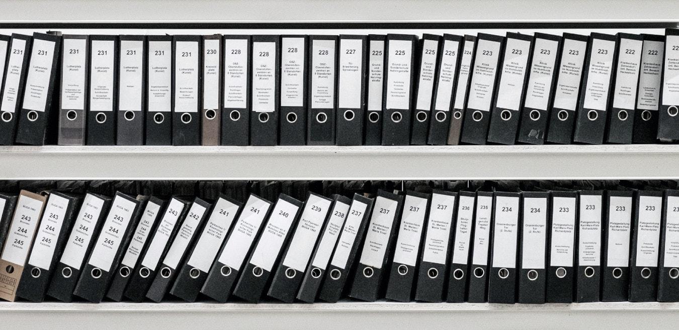 Rangement des dossiers papiers