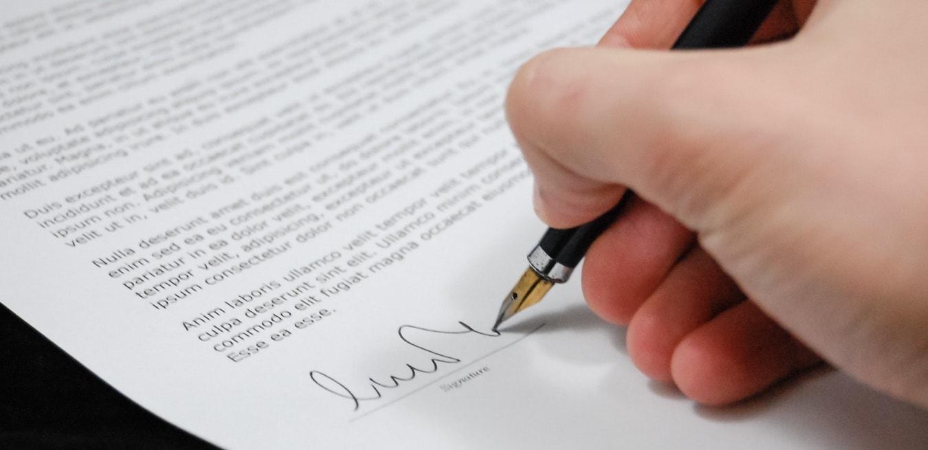 Signature du document d'adhésion